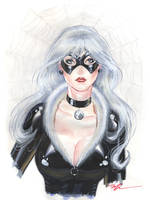 Black Cat watercolor by MichaelDooney