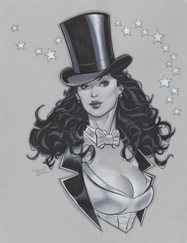 Zatanna bust by MichaelDooney