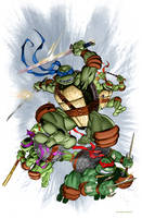 TMNT IDW #1 color...not really by MichaelDooney