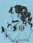 Wonder Woman blue
