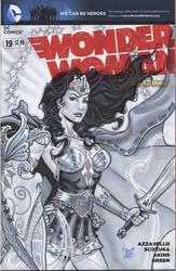 Wonder Woman in armor variant cover by MichaelDooney