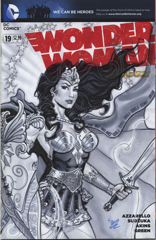 Wonder Woman in armor variant cover by MichaelDooney