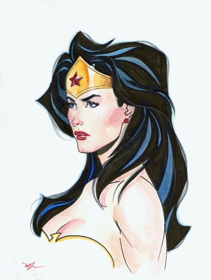 Wonder Woman watercolor by MichaelDooney