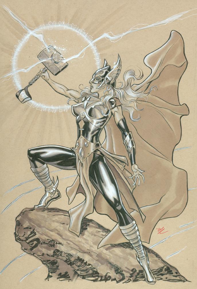 Female Thor by MichaelDooney