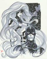 Medusa Black Bolt con sketch by MichaelDooney