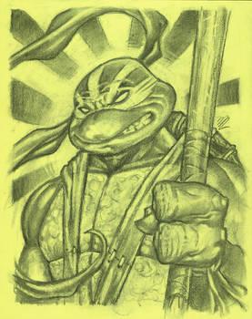 Future Donatello in charcoal