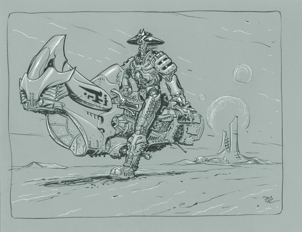 Robot Rider by MichaelDooney