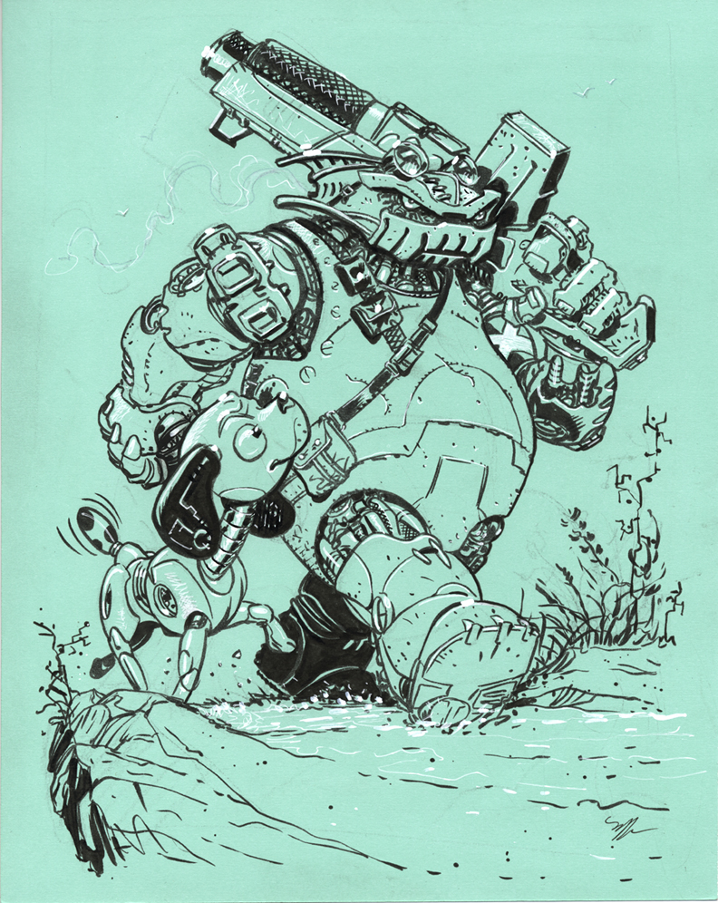 Robot pals by MichaelDooney