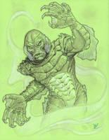 Creature from the Black Lagoon  con sketch