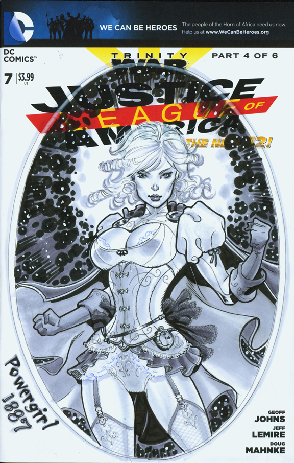 Powergirl 1887 cover by MichaelDooney