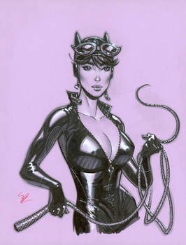 Catwoman con drawing