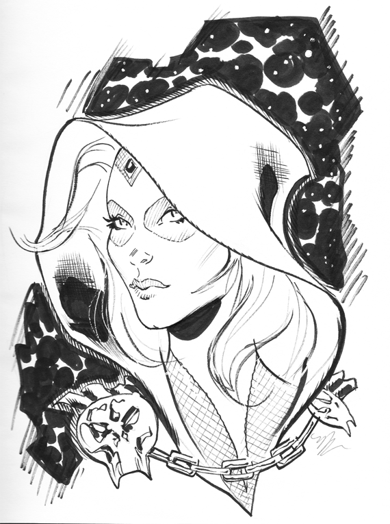 gamora con sketch by MichaelDooney