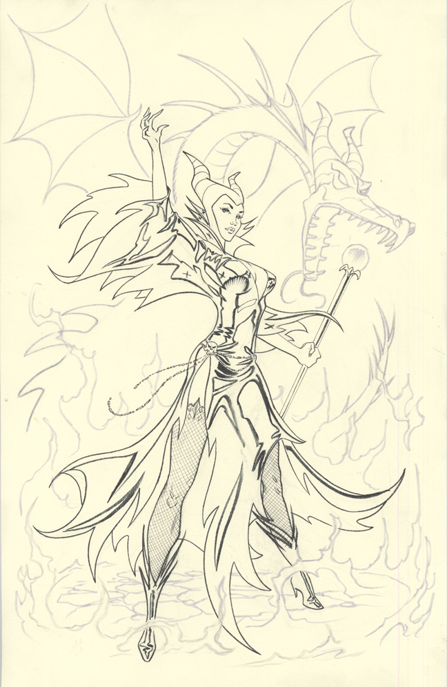 Maleficent inks by MichaelDooney