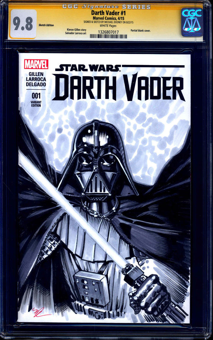 Darth Vader comic cover by MichaelDooney