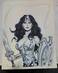 Wonder Woman con sketch