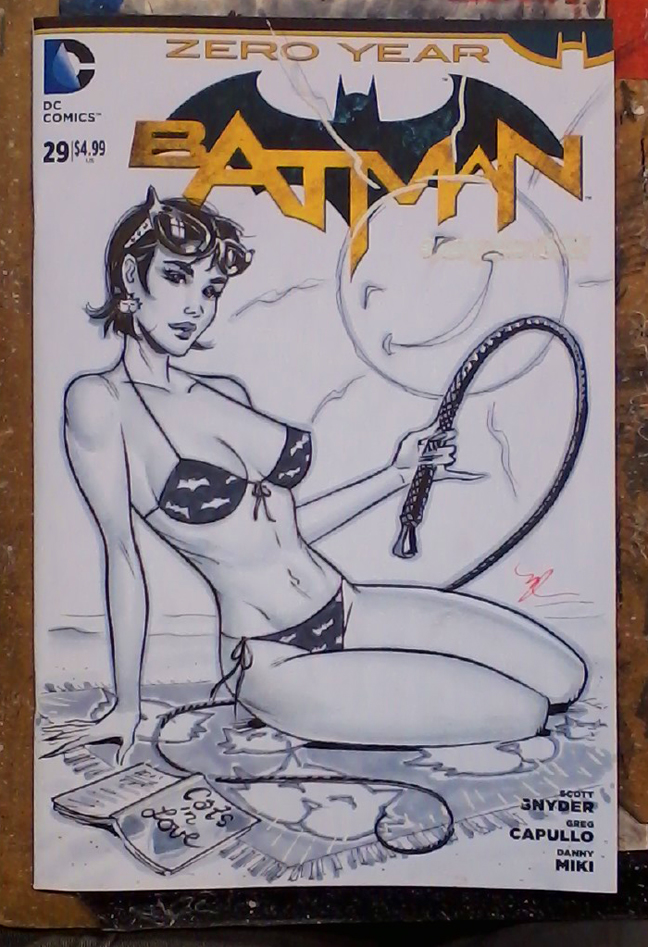 Catwoman on the beach by MichaelDooney