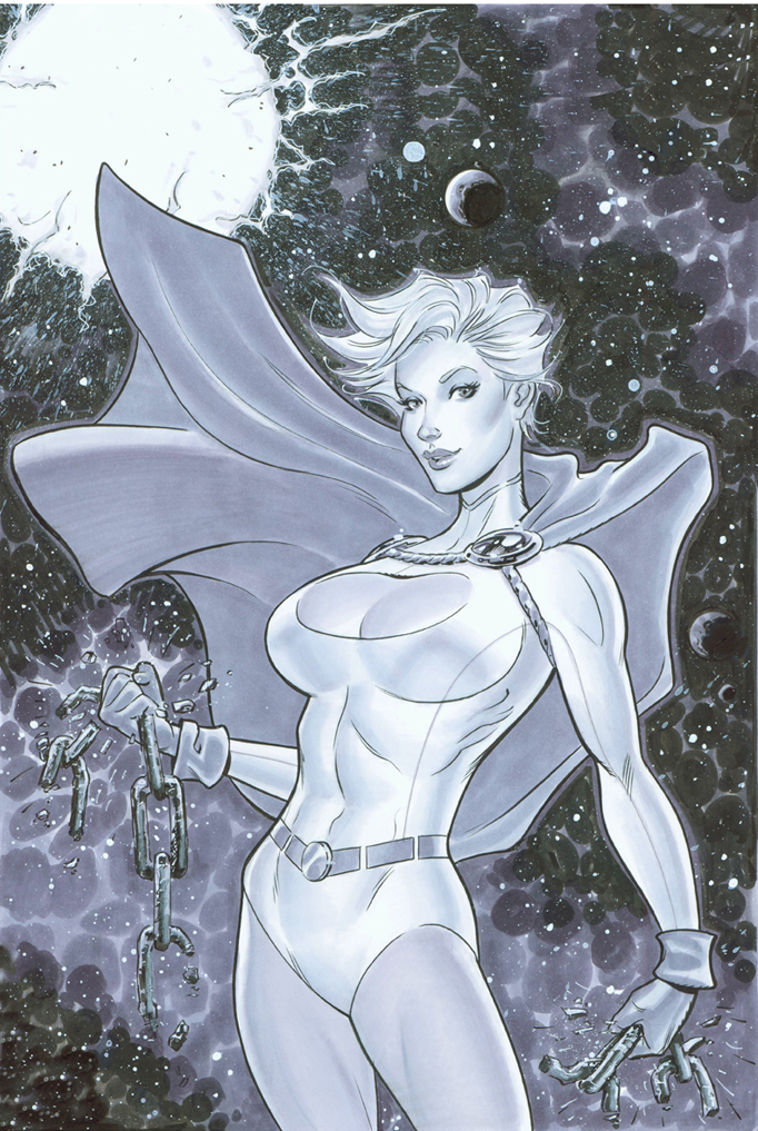 Powergirl auction art by MichaelDooney