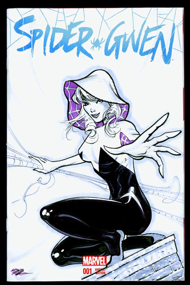 Spidergwen blank cover by MichaelDooney