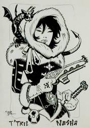 Ink girl by MichaelDooney