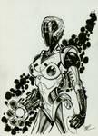 Robo girl Inktober #5