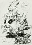 Catgirl space pilot inktober #7