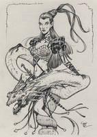Sister of Snakes Inktober #20 by MichaelDooney