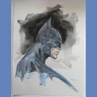 Batman watercolor by MichaelDooney