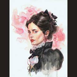 Vanessa Ives watercolor by MichaelDooney