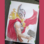 Lady Thor watercolor