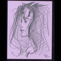 Wonder Woman pencil sketch by MichaelDooney