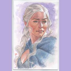 Daenerys watercolor cover by MichaelDooney