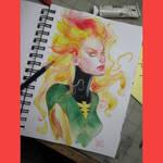 Jean Grey watercolor