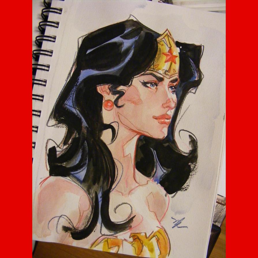 watercolor wonder woman by MichaelDooney