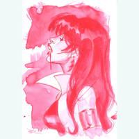 Vampirella watercolor by MichaelDooney