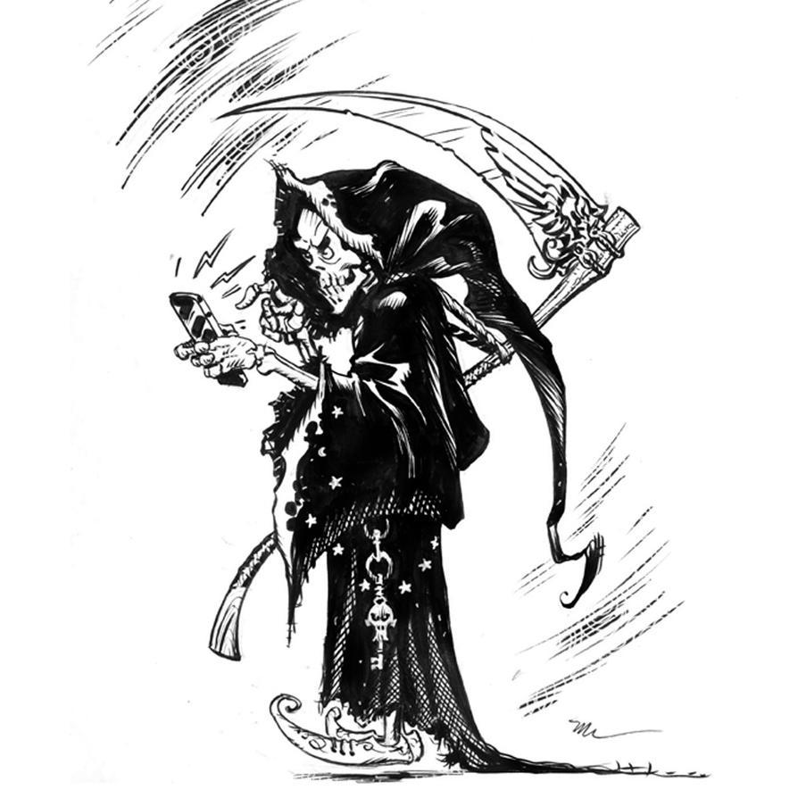 grim reaper inktober by MichaelDooney