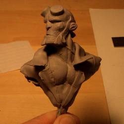 hellboy bust sculpt