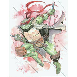 Raphael watercolor commish by MichaelDooney