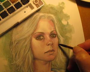 izombie watercolor