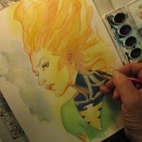 Jean Grey Phoenix watercolor