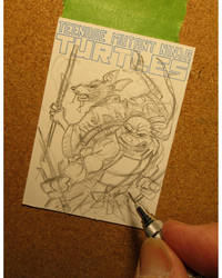 TMNT sketchcard in progress