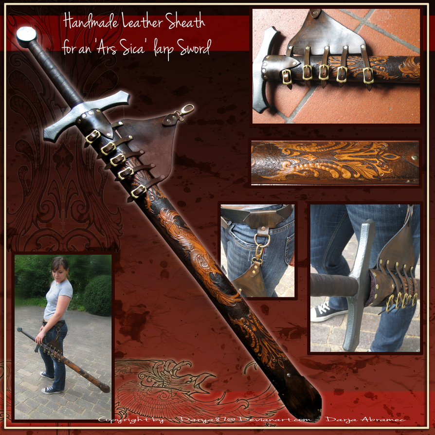 Handmade Leather Sword Sheath by Darya87