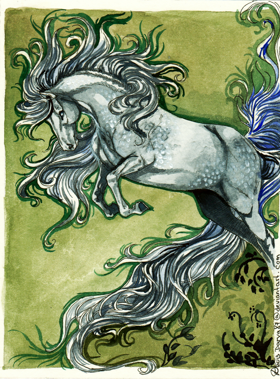 GIFT: year of the white horse by Darya87