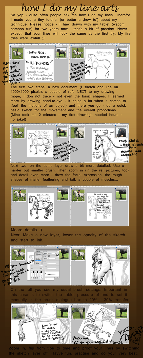 Lineart Tutorial ENGLISH by Darya87