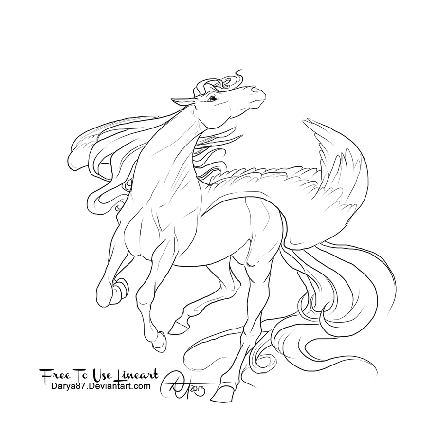 Mlp Pegasus Drawing Or Coloring Coloring Pages