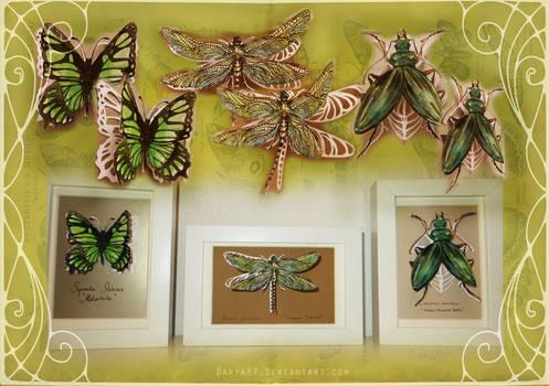 Green Papercut Set