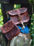 Leather Pouch and Cigarette Bag by Darya87