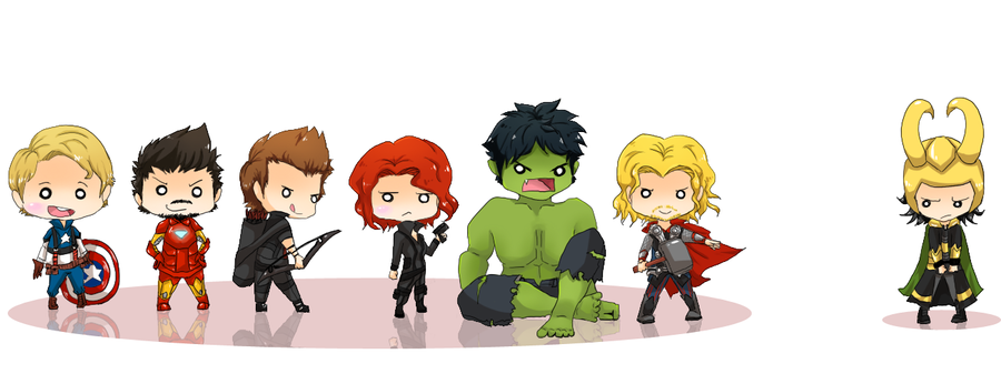 Chibi Avengers by cheerubi on DeviantArt