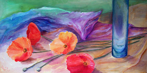 Poppies II by Lillidi