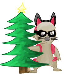 He wanted to be a christmas tree ~ collab by GlitzerKirby