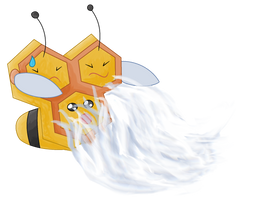 Combee using Gust by GlitzerKirby